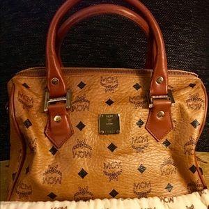 Mcm cognac Boston Crossbody Bag meduim